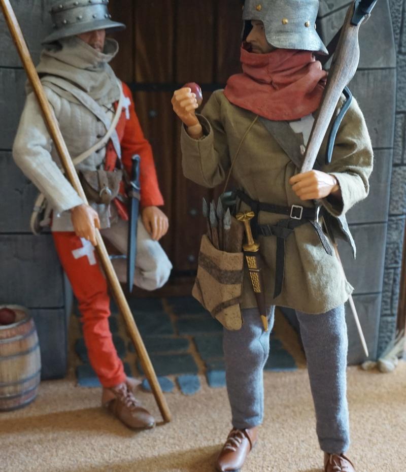 Arbalétrier et hallebardier suisse, guerres de Bourgogne (1474-1477) Dsc02710