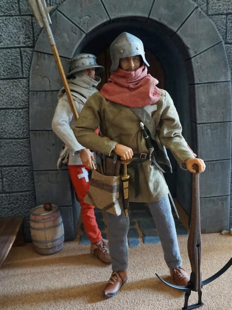 Arbalétrier et hallebardier suisse, guerres de Bourgogne (1474-1477) Dsc02810