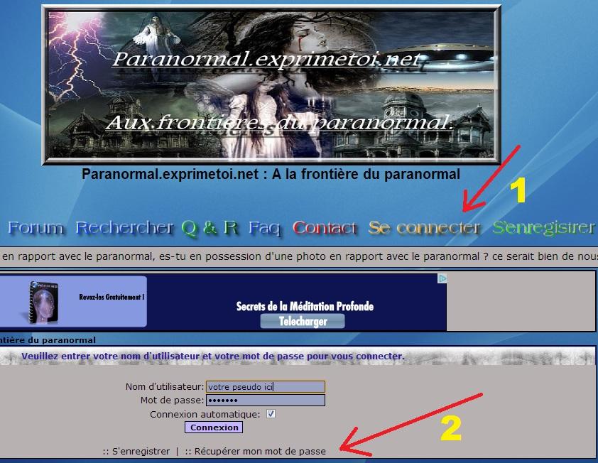 Besoin d'aide pour la Connexion et l'Enregistrement en tant que membre. Mdp10