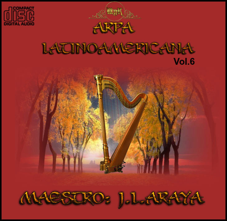 Cd  Maestro  Josè luis Araya-Arpa Latinoamericana Vol.6  Delant10