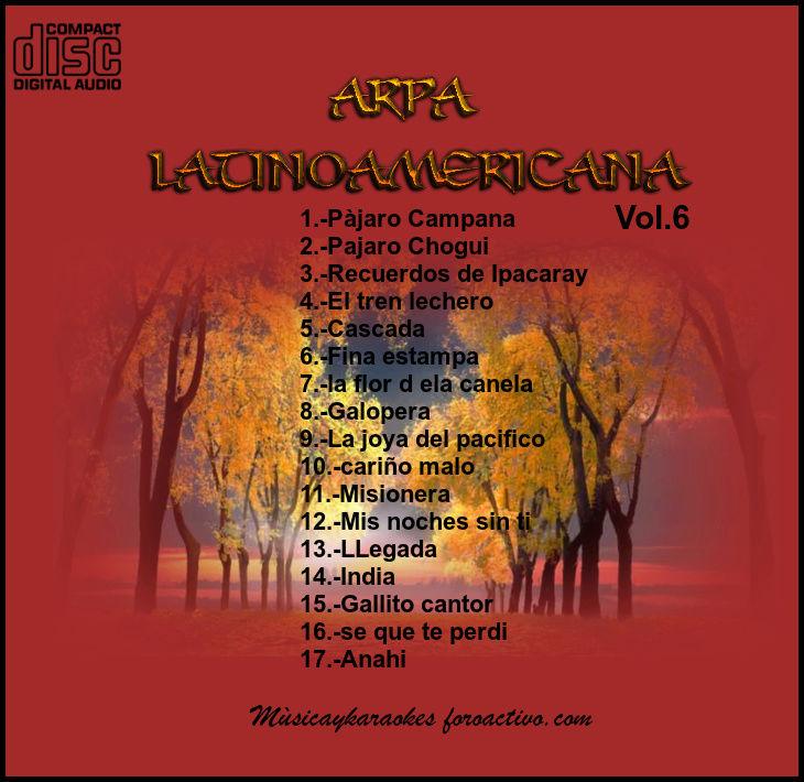 Cd  Maestro  Josè luis Araya-Arpa Latinoamericana Vol.6  Tras_v10