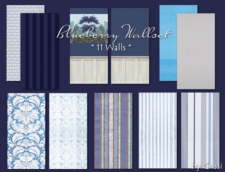 Blueberry Wallset Bluebe11