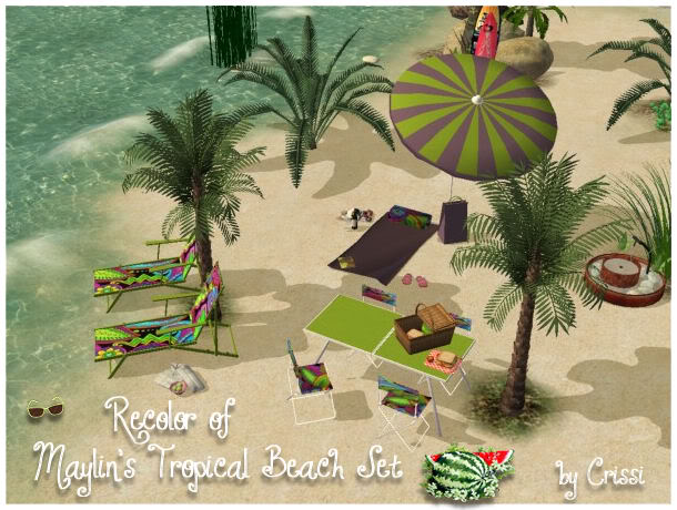 Maylin's tropical beach set-recolor Maylin11