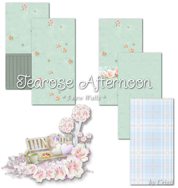 Afternoon Tearose - Wallset by Crissi Tearos10