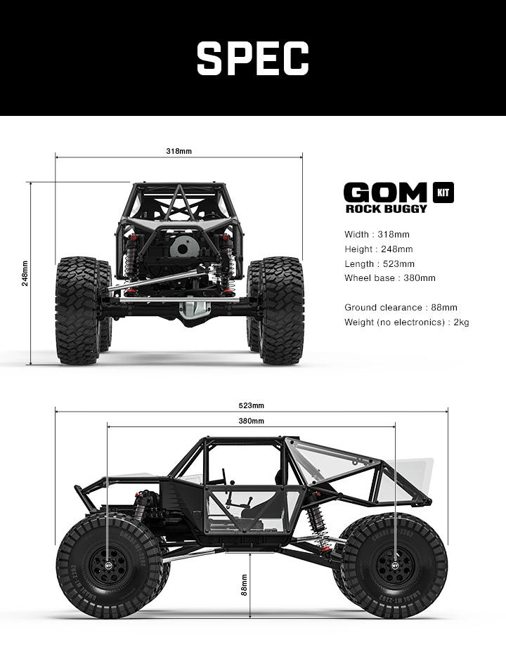 Nouveau châssis chez Gmade le GR-01 GOM Gm560014