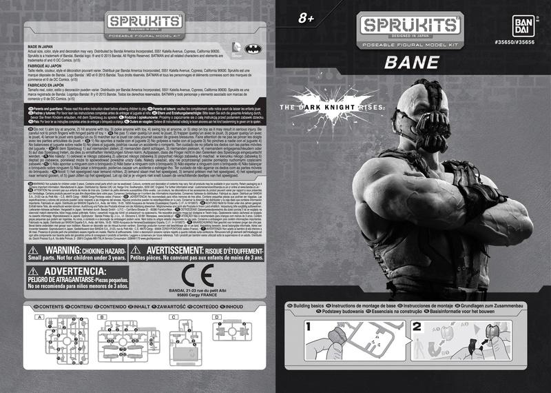 The Dark Knight Rises BANE - Level 1 (Sprukits-Bandai) Lv1-ba11
