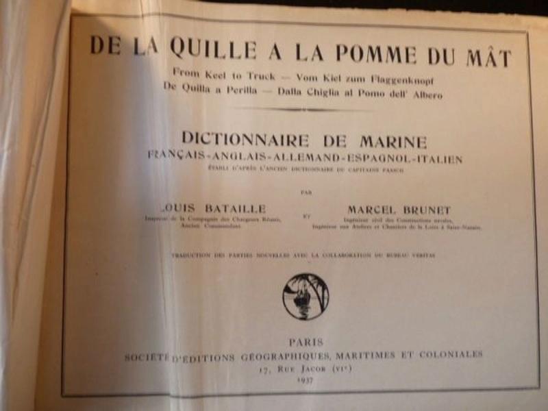 Glossaire - Dictionnaire italien-français-italien termes construction de marine Paasch10