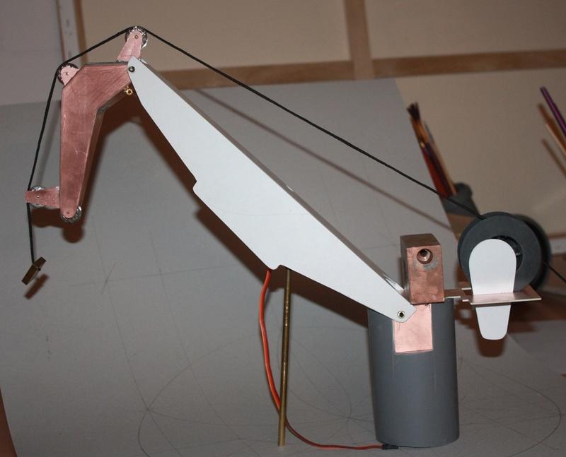Bau eines X-Bow Schiffes in 1:50 Kran1a10
