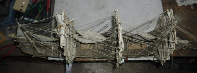 """Restaurierung eines Modells der """"Pamir"""" 210"""