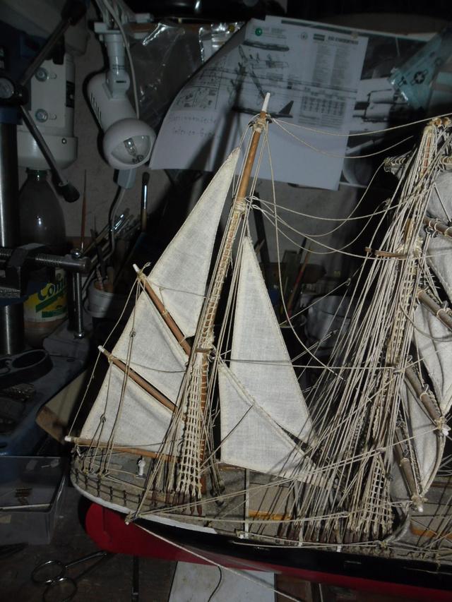 """Restaurierung eines Modells der """"Pamir"""" 410"""