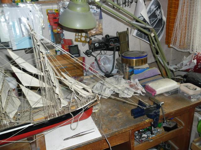 """Restaurierung eines Modells der """"Pamir"""" 810"""