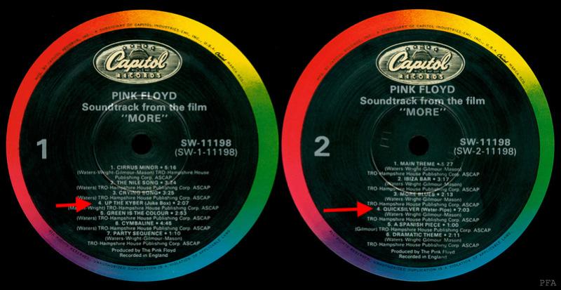 1969 - MORE [PINK FLOYD] [Album STUDIO]   Labels10
