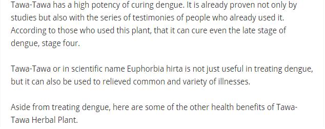 Dengue Fever Remedy Tawa210