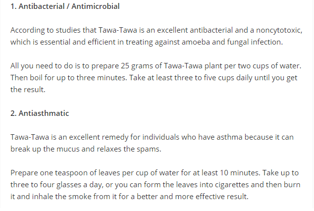 Dengue Fever Remedy Tawa310