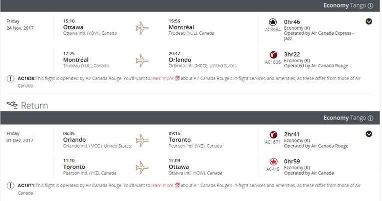Billet Air Canada à petit prix :-) 110