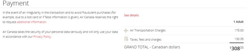 Billet Air Canada à petit prix :-) 210