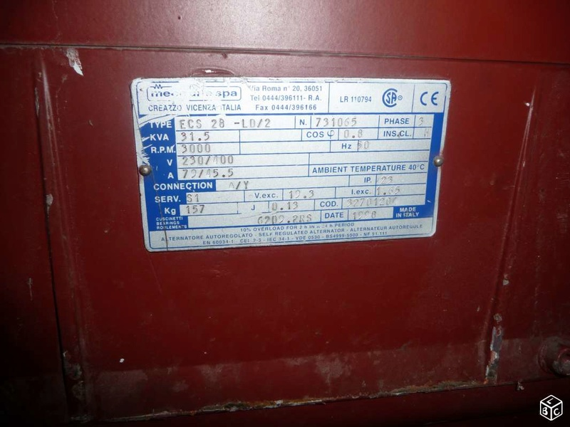 génératrice mecc alte 31.5 kva controlée Altern10
