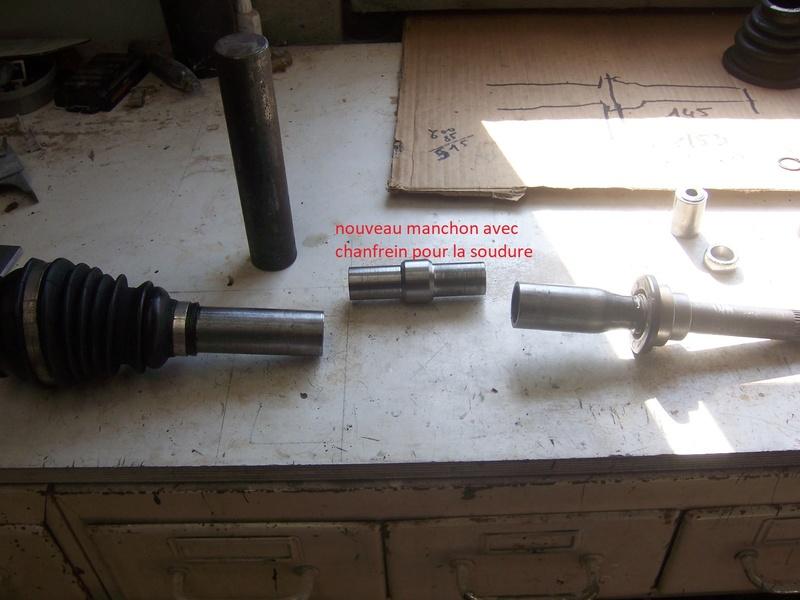 Modification allongement  transmission cardan Gauche. 100_7315