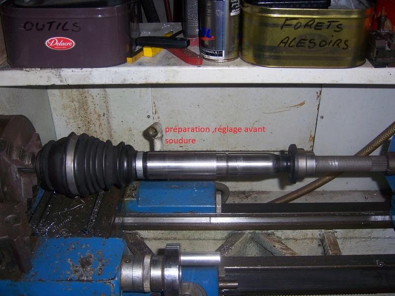 Modification allongement  transmission cardan Gauche. 100_7317