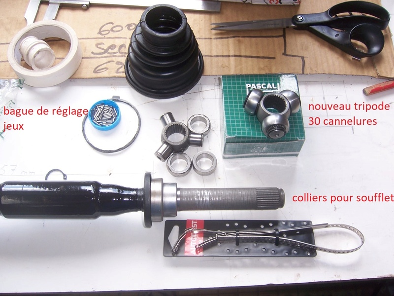Modification allongement  transmission cardan Gauche. 100_7320