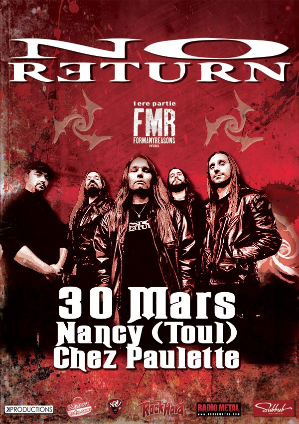 """NO RETURN Le 30 Mars """"Chez Paulette"""" 30759010"""