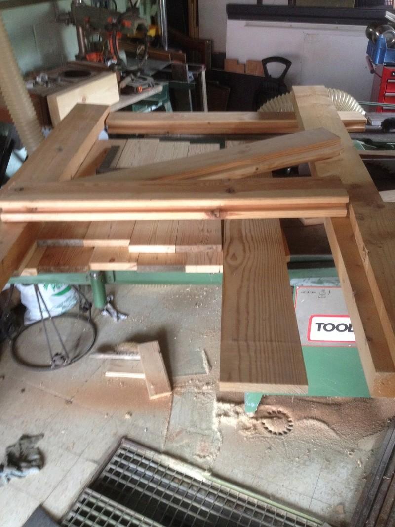 Construction de la porte du chalet chauffage Dispos10