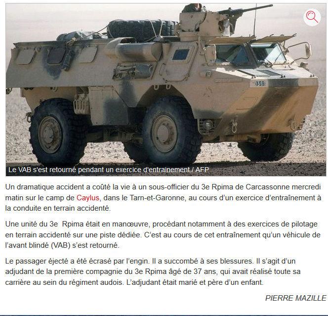 UN SOUS OFFICIER DU 3ème RPIMA tué au camp de CAYLUS... 2017-010