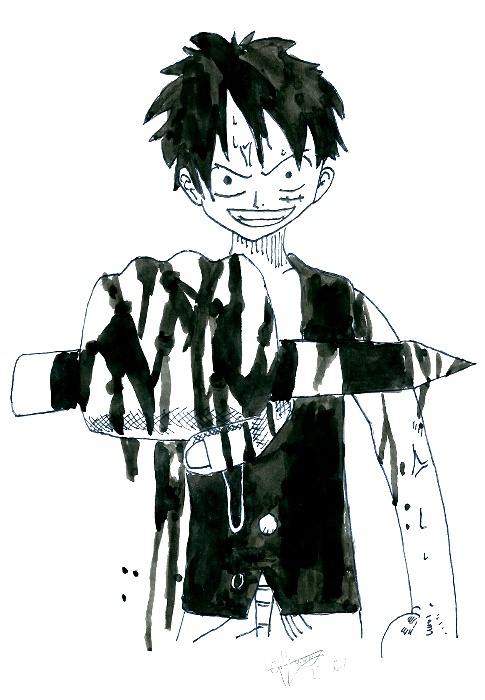 [Dessins] One Piece Luffy_10