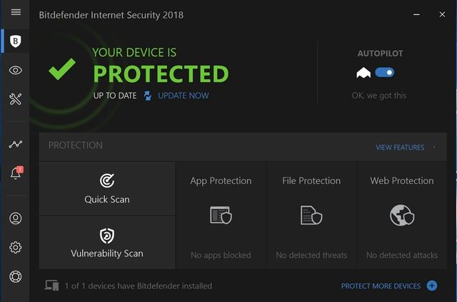 Bitdefender Internet Security 2018 - Advanced Threat Defense Bitdef12