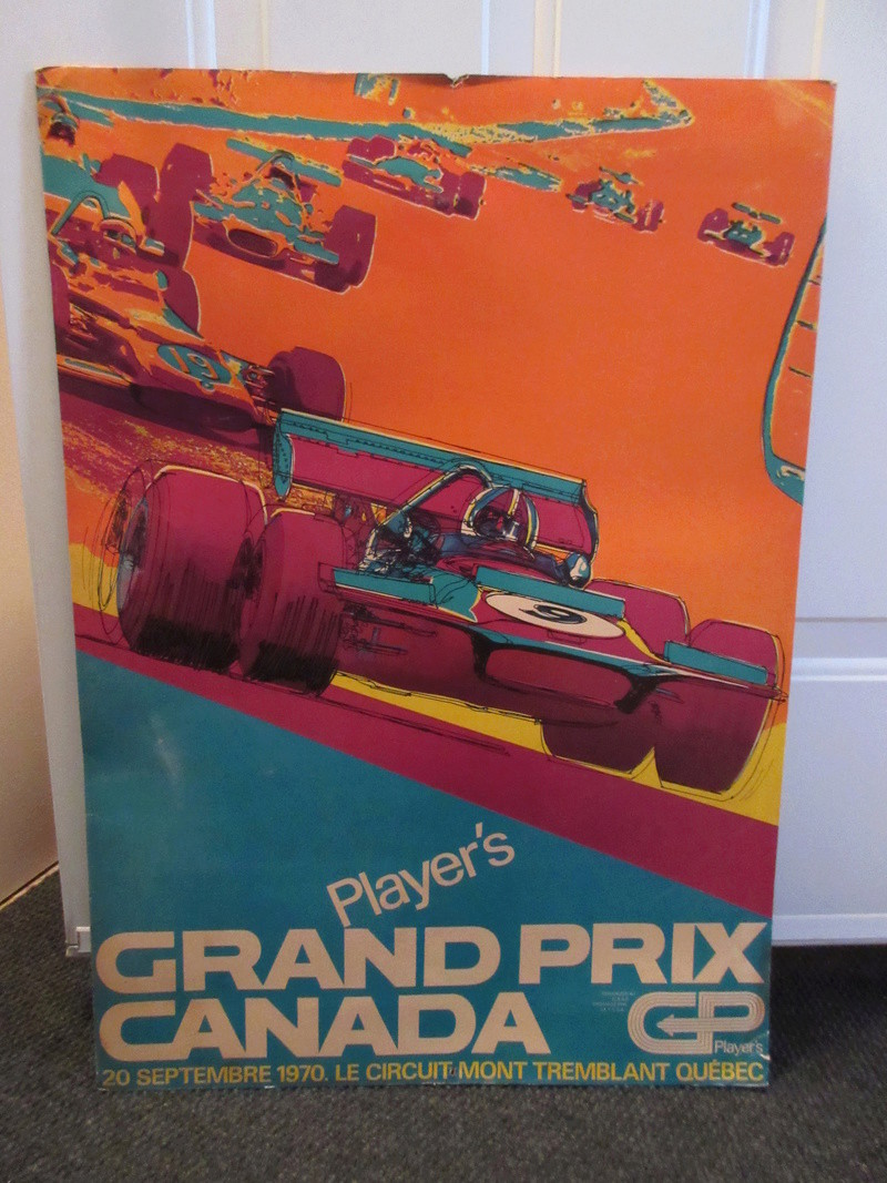 Trouvé: Pancarte Player's Grand Prix Canada 1970 2017-010