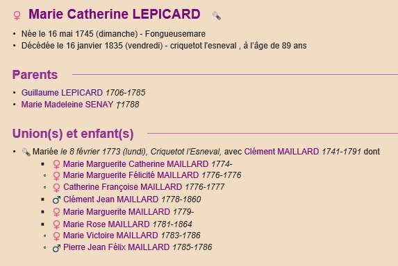 Sausseuzemare LEPICARD ~1741 Actes410
