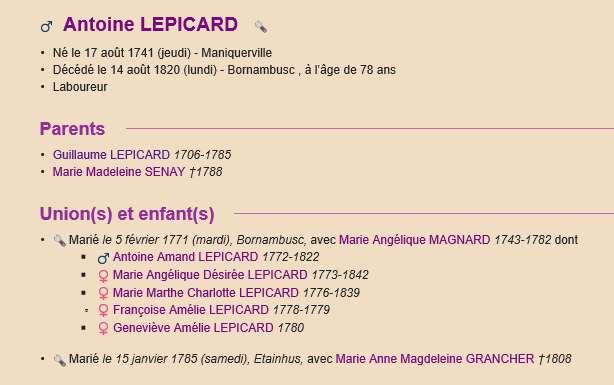 Sausseuzemare LEPICARD ~1741 Actes_13