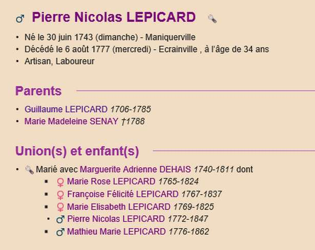 Sausseuzemare LEPICARD ~1741 Actes_14