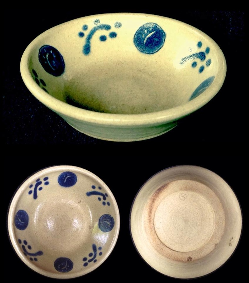 hand thrown and decorated OC Stephens dish 21231210