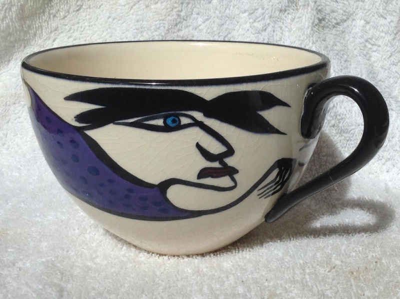 Catherine Anselmi cup with face Ca10