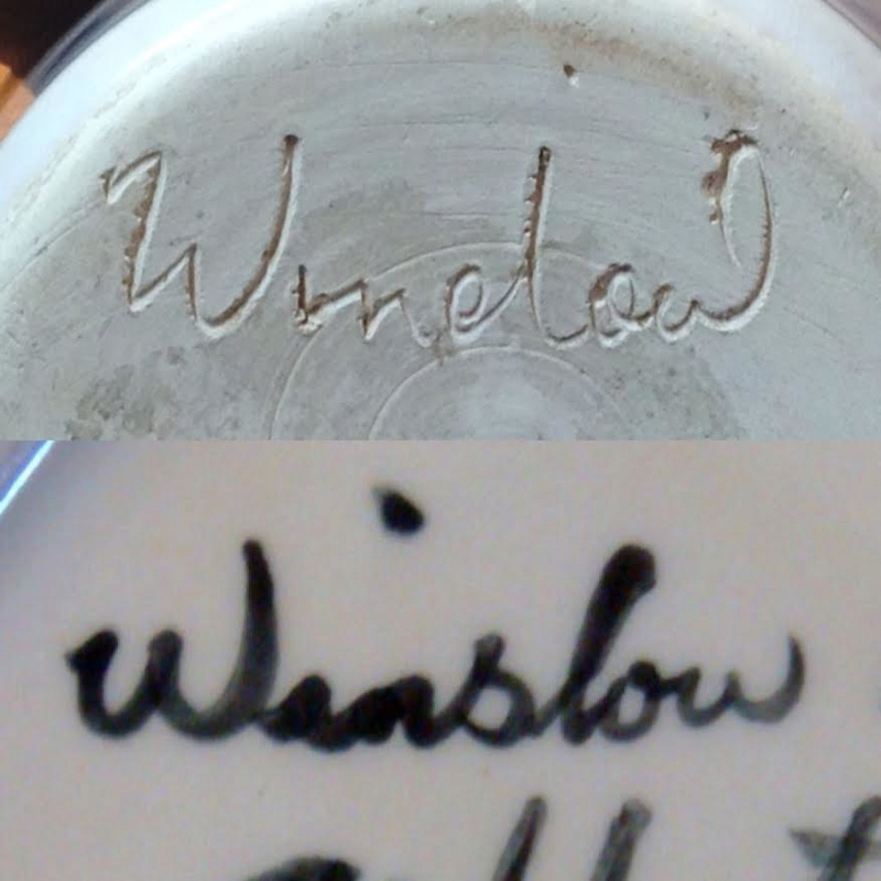 Looks like Winelow or Window: could this be Winslow Pottery? Wins10