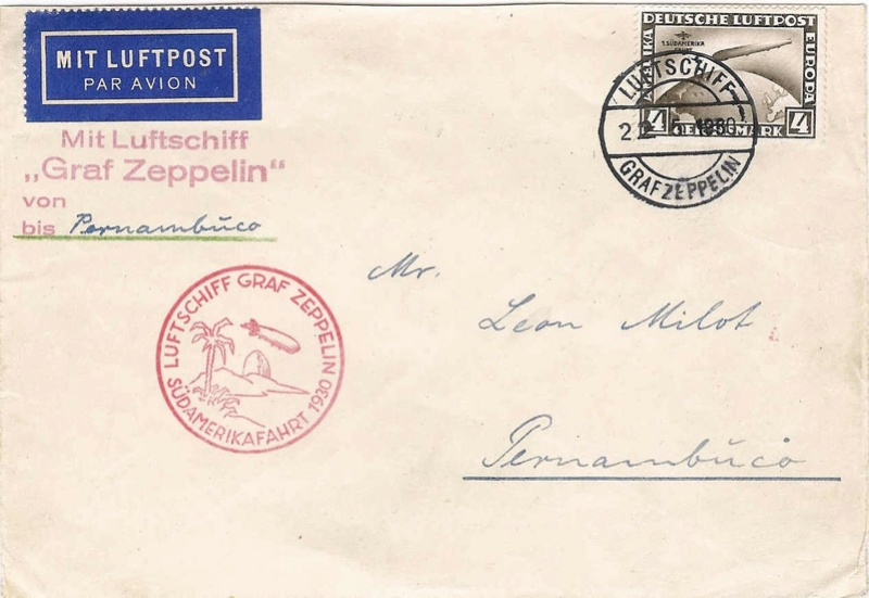 nach - Südamerikafahrt 1930, Post nach Pernambuco 57_b_b10