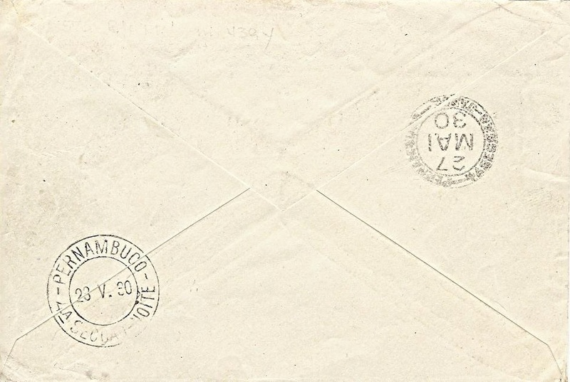 nach - Südamerikafahrt 1930, Post nach Pernambuco 57_b_b12