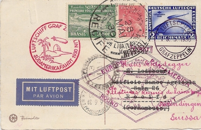 nach - Südamerikafahrt 1930, Post nach Pernambuco 57_c__12