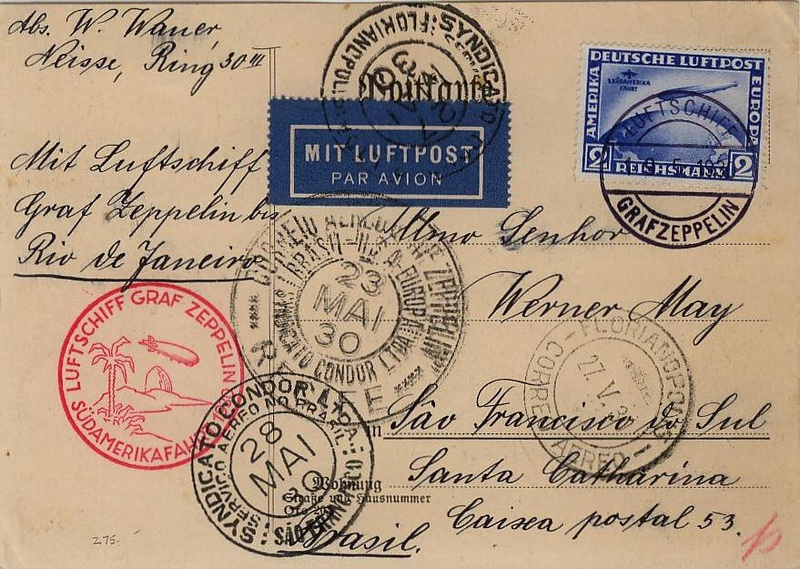 nach - Südamerikafahrt 1930, Post nach Pernambuco 57_c_n10