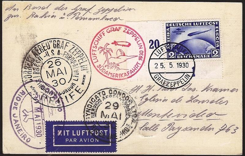 nach - Südamerikafahrt 1930, Post nach Pernambuco 57_d_m10