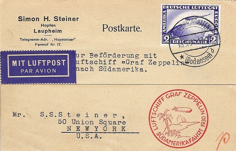 nach - Südamerikafahrt 1930, Post nach Pernambuco 57_k_a10