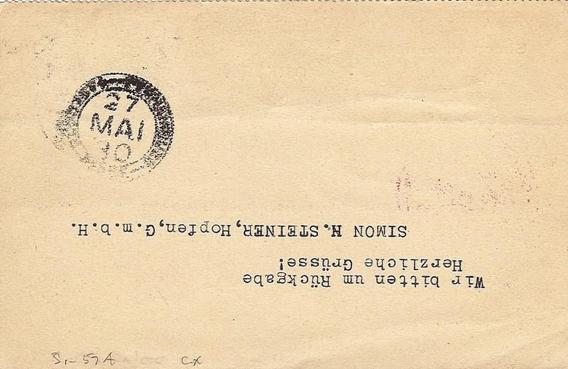 nach - Südamerikafahrt 1930, Post nach Pernambuco 57_k_a11