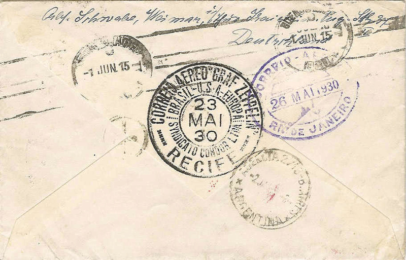 nach - Südamerikafahrt 1930, Post nach Pernambuco 57_k_b10