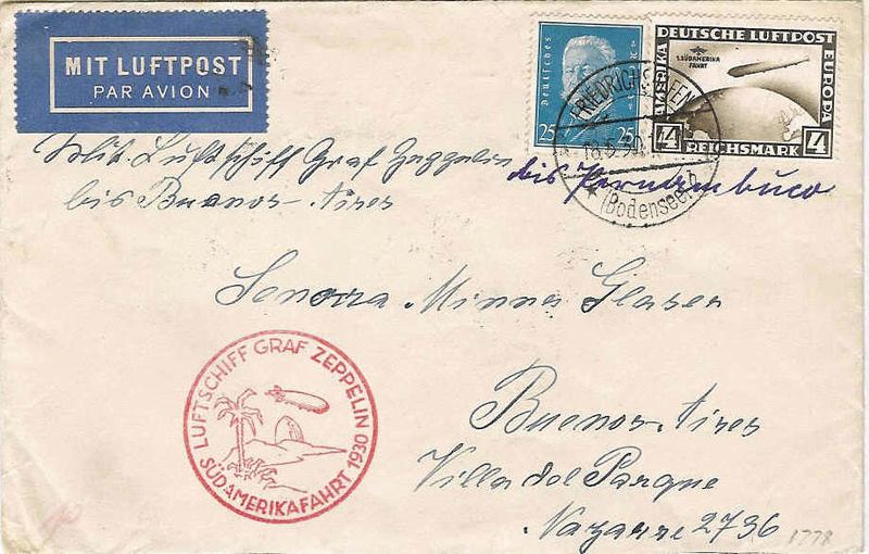 nach - Südamerikafahrt 1930, Post nach Pernambuco 57_k_b11