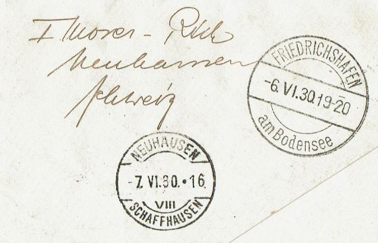 """nach - Südamerikafahrt 1930 (Rundfahrt-) Post nach Friedrichshafen"""" - Seite 7 57_p_b11"""