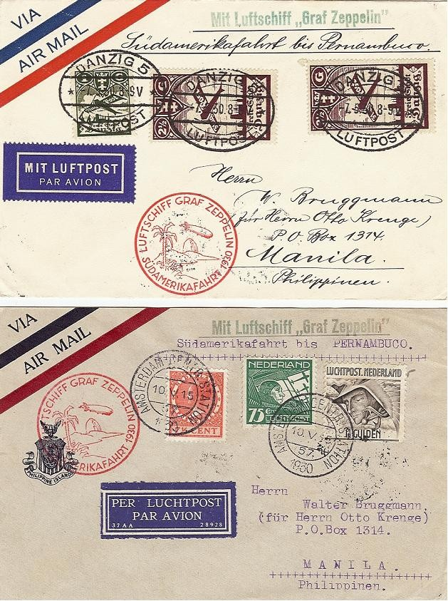 nach - Südamerikafahrt 1930, Post nach Pernambuco Saf_3010