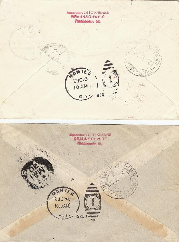 nach - Südamerikafahrt 1930, Post nach Pernambuco Saf_3011