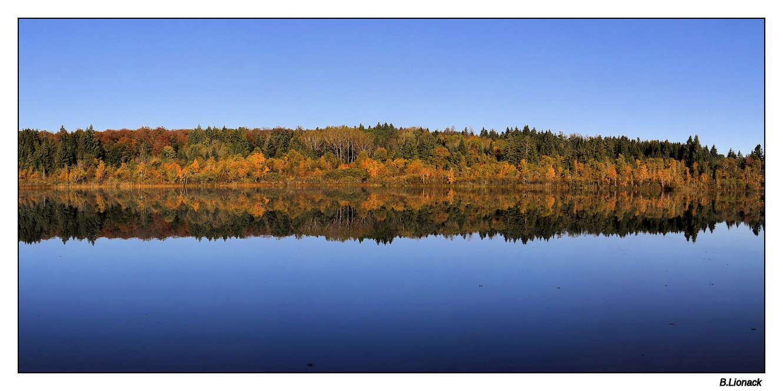 Lac de Bonlieu, ce matin Panobo10