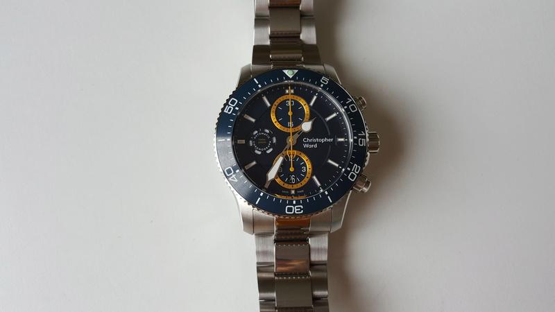 ward - un chronographe de plongée Christopher Ward, Trident C60 pro 600. 20170715